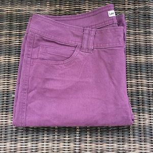 Lee classic fit purple petite straight leg pants